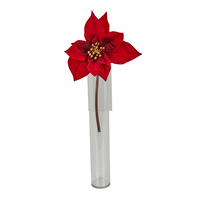 30cm Red Poinsettia 4 layer