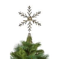 Jewelled  Metal  Snowflake Tree Topper 33cm