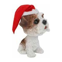 Bobble Head Terrier Standing Decoration 12 cm