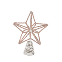 Champagne Star Tree Topper  20CM Star
