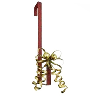 Red Wreath Hanger with White  Bell 41cm