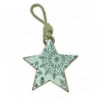White and Grey Enamel Wood Star