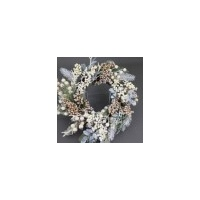 Cottage White Wreath 50cm