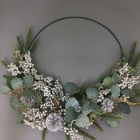 Australiana Champagne Silver and Fern Half Wreath 40cm