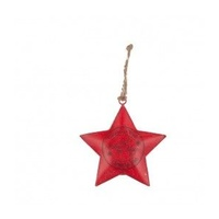 Red Metal Star With  Wish
