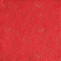 Red Luxury Embossed  Luncheon Disposable Napkins - 15pc