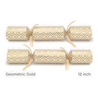 Geometric Gold Catering Crackers - Box of 50