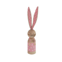 Standing Easter Rabbit Pink