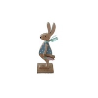 Blue Polka Dot Easter Rabbit