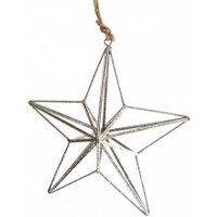 3d Silver Wire Star 14 cm
