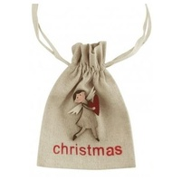 Calico Gift Bag with Angel 15CM