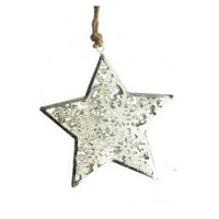 Silver Filigree Star