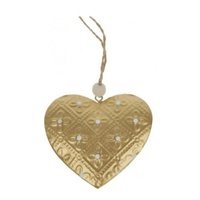 Pressed Metal Gold Heart 9cm