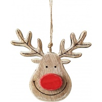 Reindeer Face with Red Nose 11 x 12cm