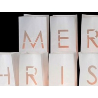 Merry Chistmas Paper Votive Kit