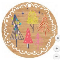 Wooden Ornament Christmas Trees 7.5cm
