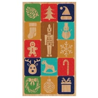 Wooden Christmas Postcard  Icons 8.5x15cm