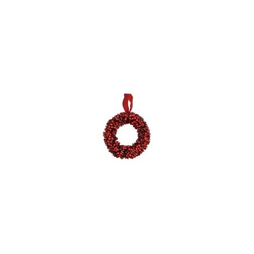 Red Berry Wire Wreath 30 cm (S)