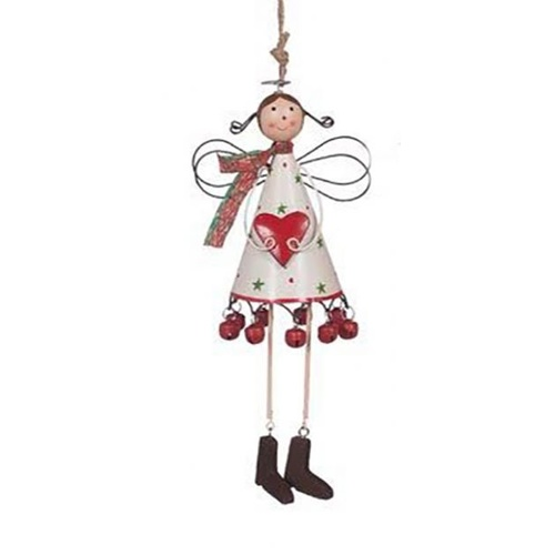 Juniper Angel Ornament White 22 cm