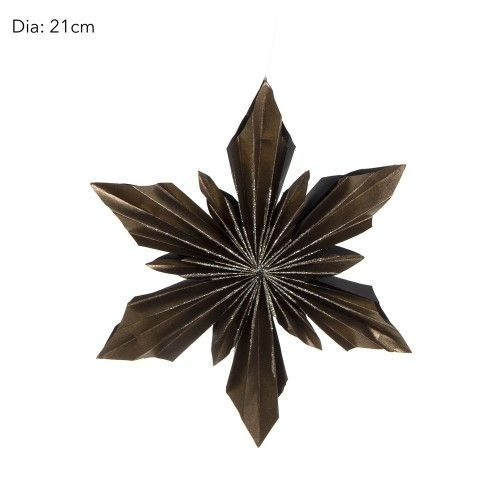 Paper Star Dark Coloured 21 cm