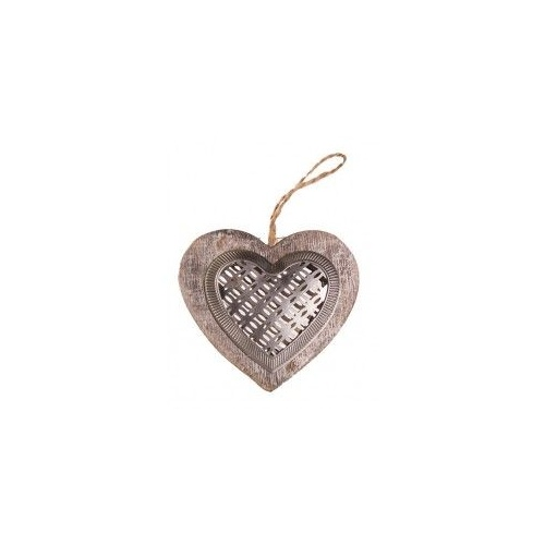 Wood/Tin Heart