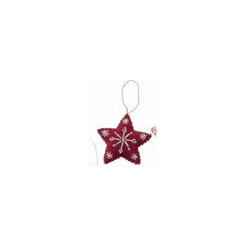Felt Red Star. 9cm