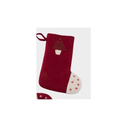 Felt Stocking With Christmas Tree. 33cm