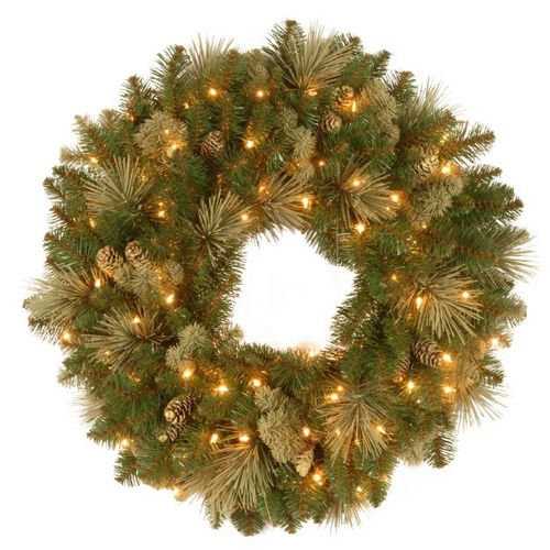 Carolina Pine Wreath with LEDs 61 cm