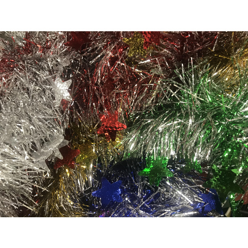 Star Tinsel - Multicolour 2m